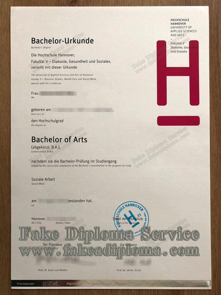 fake Fachhochschule Hannover diploma