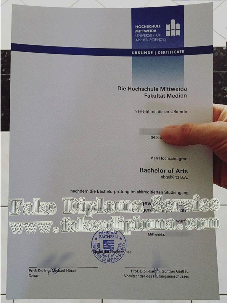 fake Hochschule Mittweida diploma