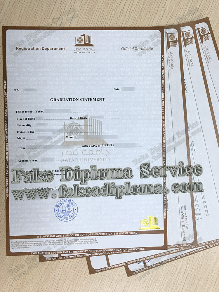 fake Qatar University certificate degree, fake Qatar University diploma