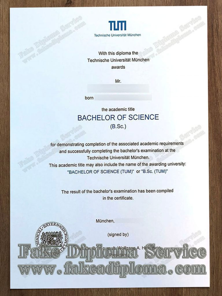 Technische Universität München diploma, fake TUM diploma