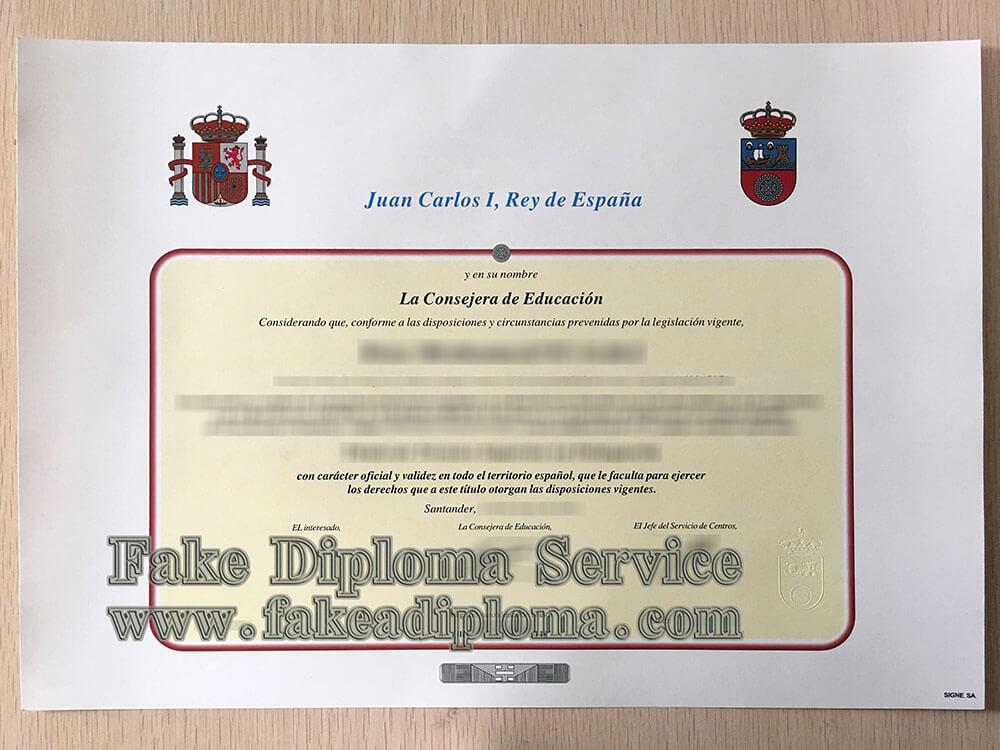 fake Universidad de Granada diploma, fake UGR diploma