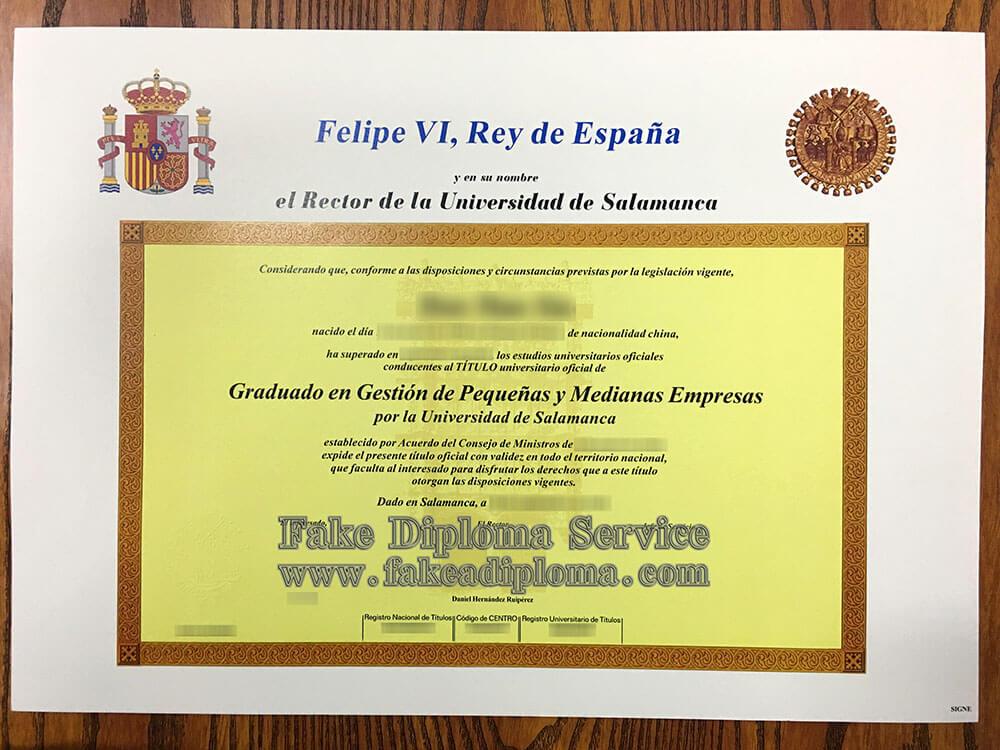fake University of Salamanca diploma, fake USAL diploma