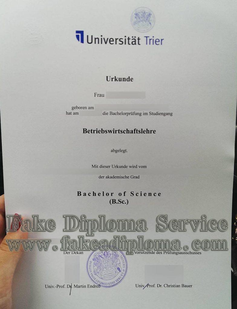 fake University of Trier diploma
