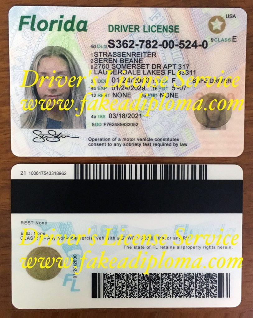fake Florida driver's license, fake us driver's license