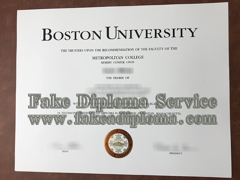 fake Boston University diploma