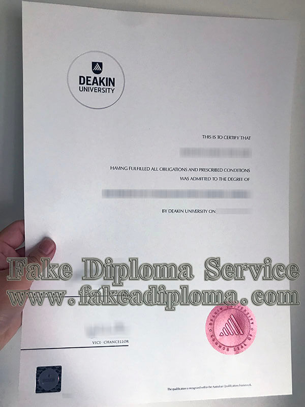 Deakin University Fake Diploma,fake Deakin University degree