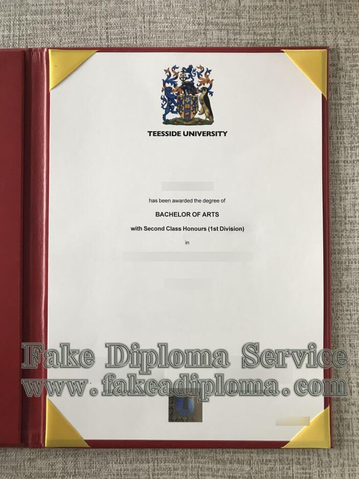 Fake Teesside University Degree, Fake Teesside University diploma