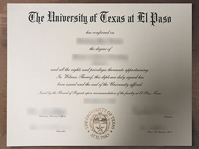 Who can make A University of Texas at El Paso Diploma Online?