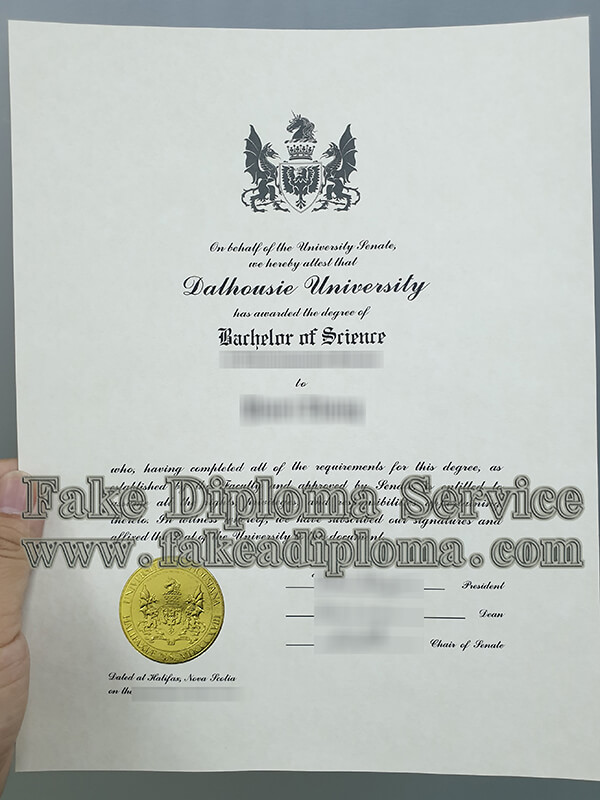 fake Dalhousie University diploma, Dalhousie University fake degree certificate