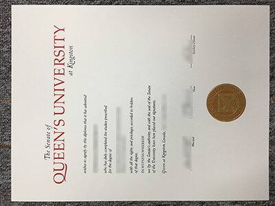 High-quality Queen's University Diploma and Transcript