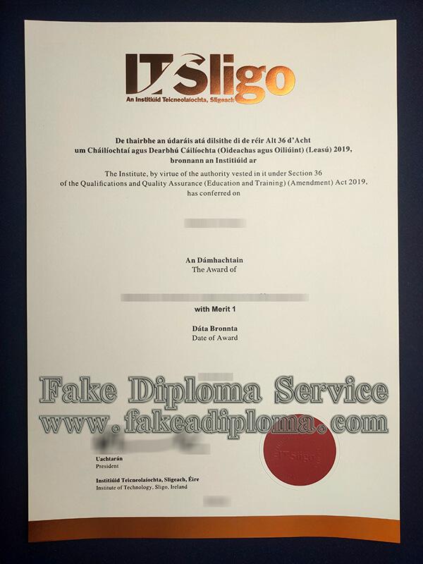 fake Institiúid Teicneolaíochta Sligeach diploma