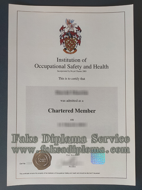 IOSH certificate, Institution of Occupational Safety and Health certificate
