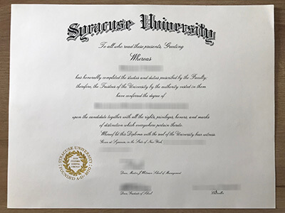 How Much For a Syracuse University Diploma?