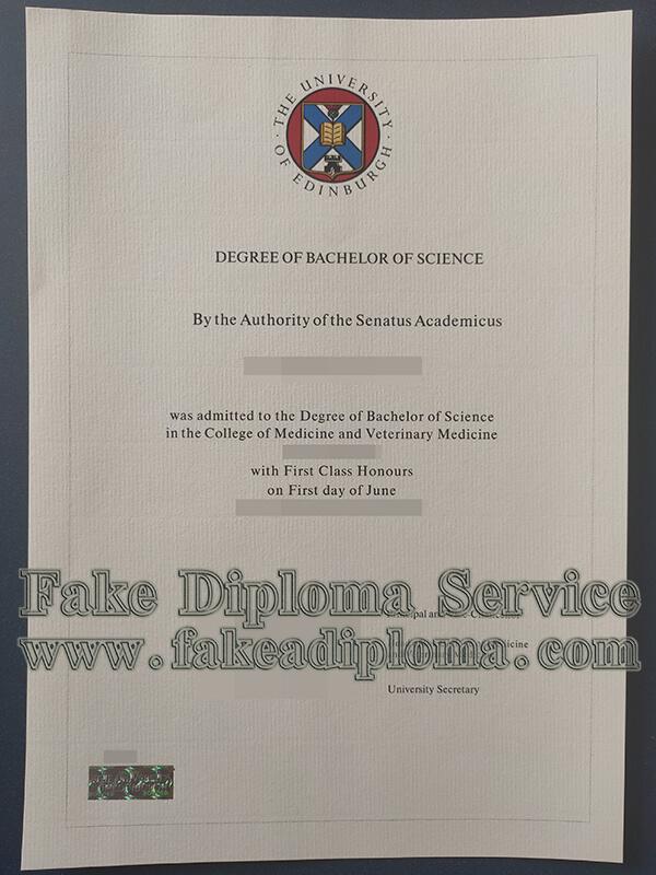 The University of Edinburgh diploma, The University of Edinburgh degree