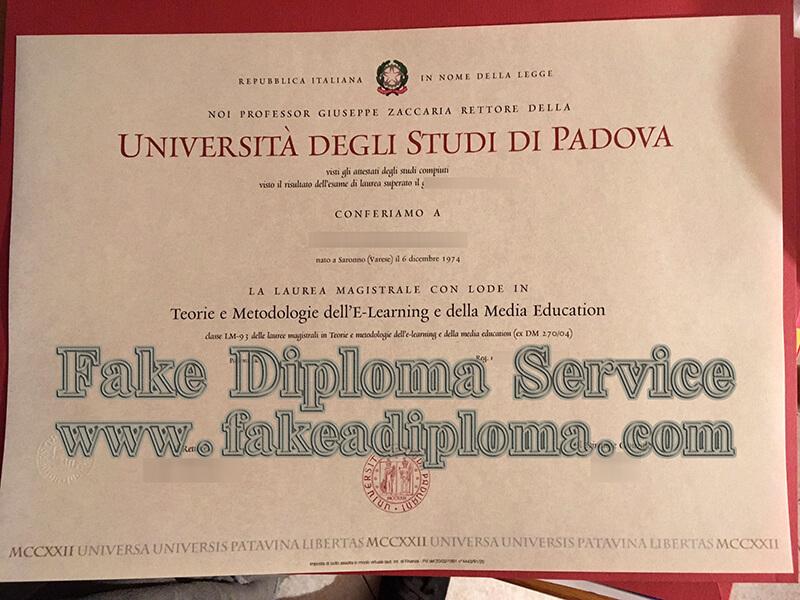 Get Università degli Studi di Padova diploma