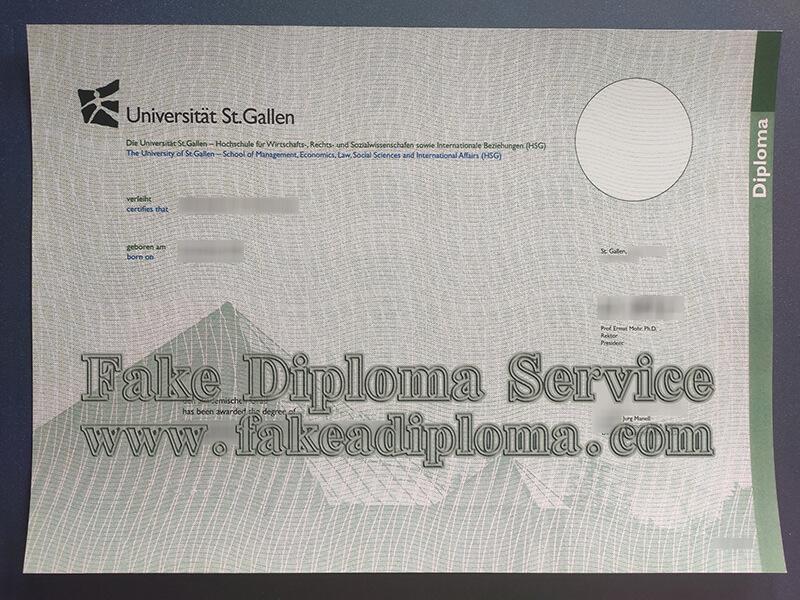 University of St Gallen diploma,Universität St. Gallen diplom