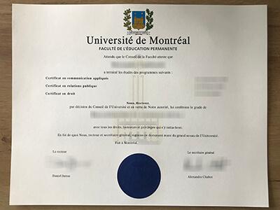 How to Buy a Fake Université de Montréal Diploma?