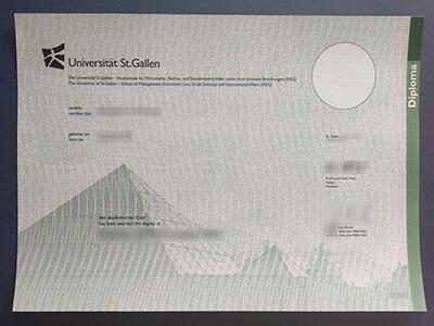 Buy University of St Gallen diploma,Universität St. Gallen diplom