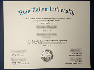 What are the procedures for purchasing a Utah Valley University diploma?