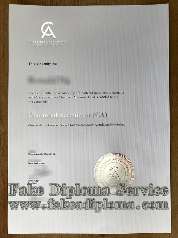 CA certificate, Chartered Accountants Australia and New Zealand certificate
