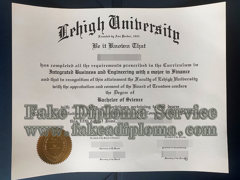 Lehigh University diploma, Lehigh University degree