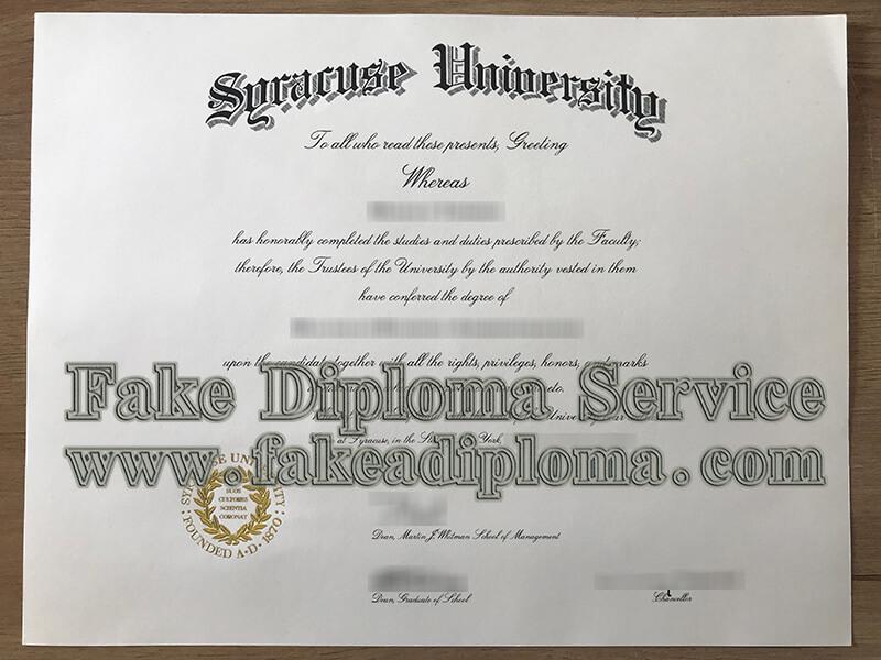 Syracuse University Diploma