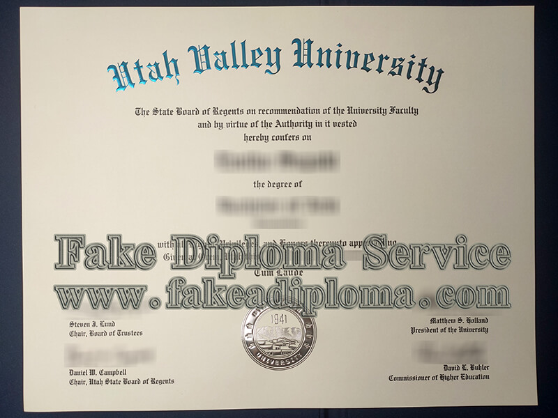 fake Utah Valley University diploma, fake Utah Valley University degree