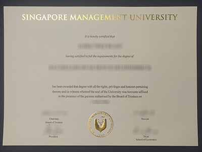 Make a Quick Copy of the Singapore Management University Diploma(SMU diploma)