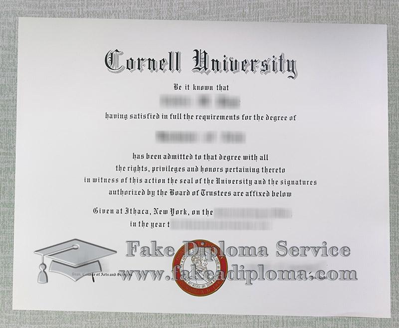 Cornell university diploma, Cornell university degree, fake Cornell university certificate,