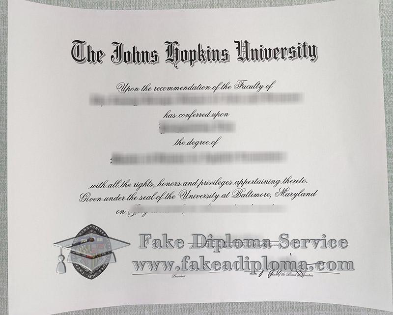 Johns Hopkins University degree, fake JHU diploma, Johns Hopkins University diploma,