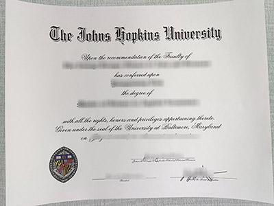 Important tips to order a fake Johns Hopkins University degree