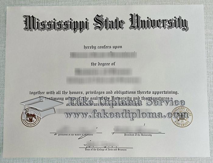 Mississippi State University diploma,  Mississippi State University degree, fake MSU certificate,