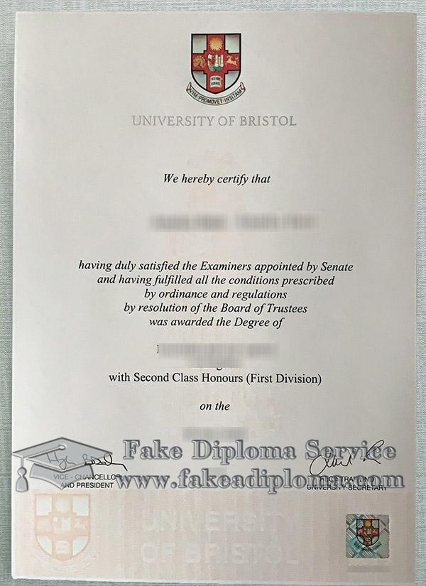 University of Bristol degree 2021, University of Bristol diploma, fake University of Bristol certificate,