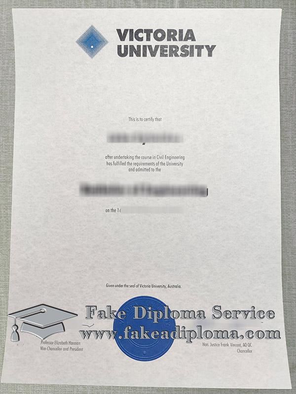 Victoria University diploma, fake Victoria University degree, fake VU diploma,