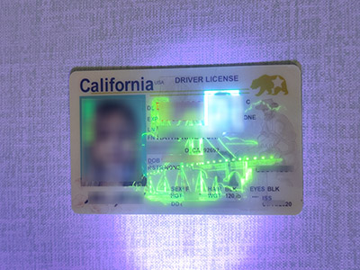 How long it takes to make a fake California driver license