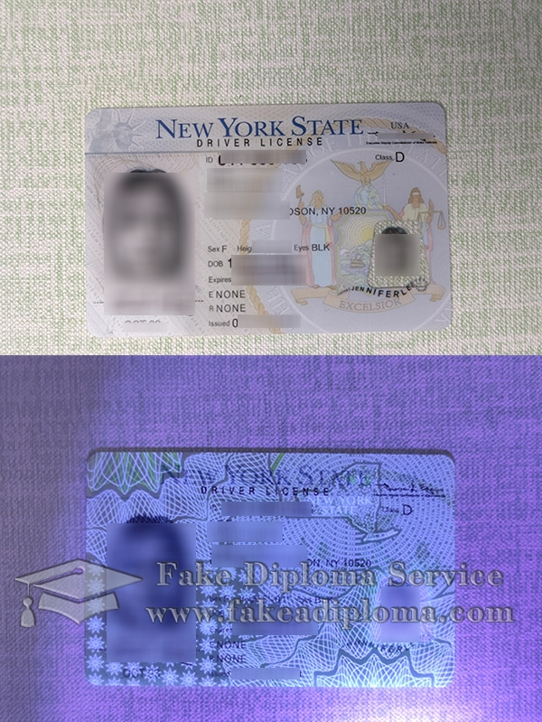 New York Driver License, New York driving licence, fake New York driving card,