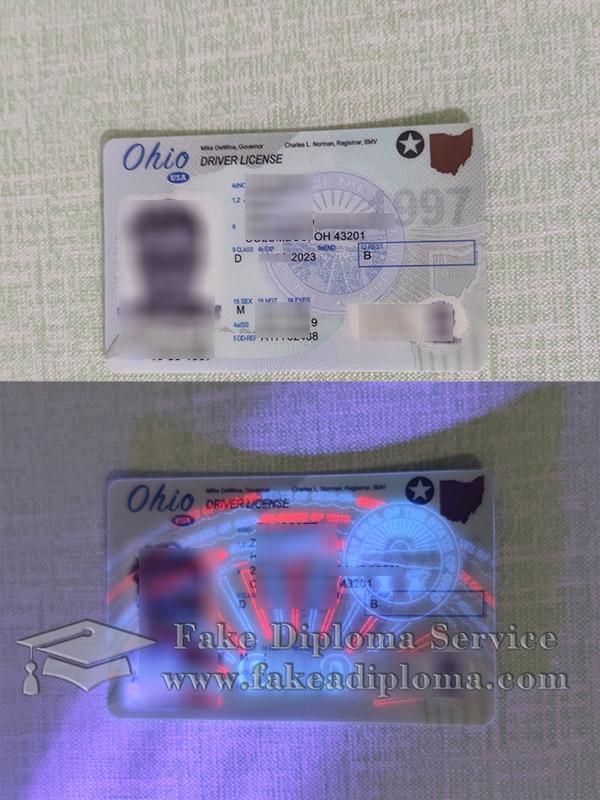 Ohio driver license, buy Ohio driving card, Ohio driving permit, fake USA driver card,