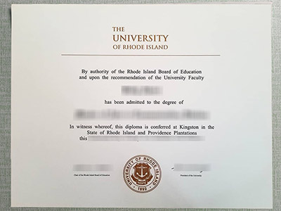 How a fake University of Rhode Island diploma 2021 looks