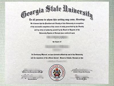 Behind-the-Scenes of Making Fake Georgia State University Diploma