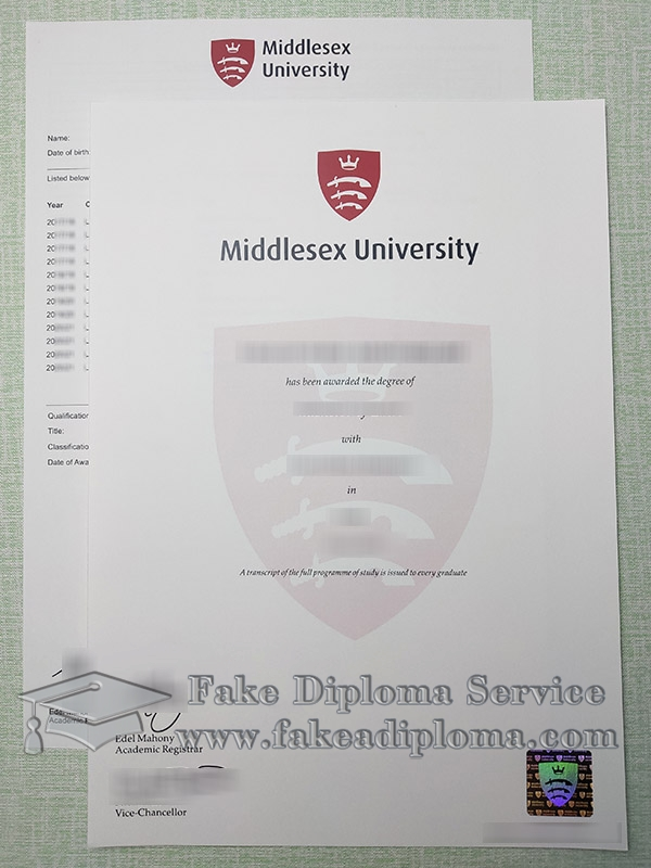 Middlesex University degree, Middlesex University transcript, fake Middlesex University diploma, 密德萨斯大学证书,