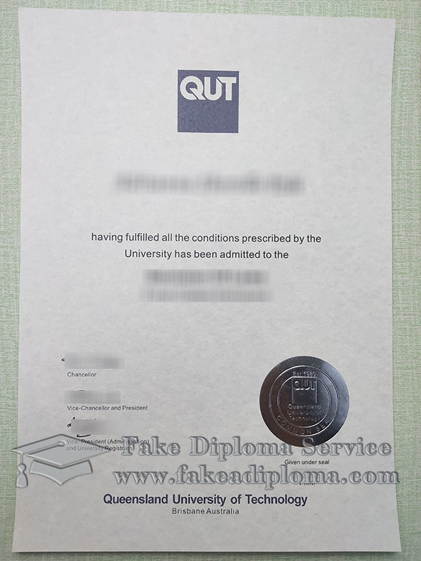 Queensland University of Technology diploma, Queensland University of Technology degree, fake QUT certificate, 昆士兰科技大学文凭,