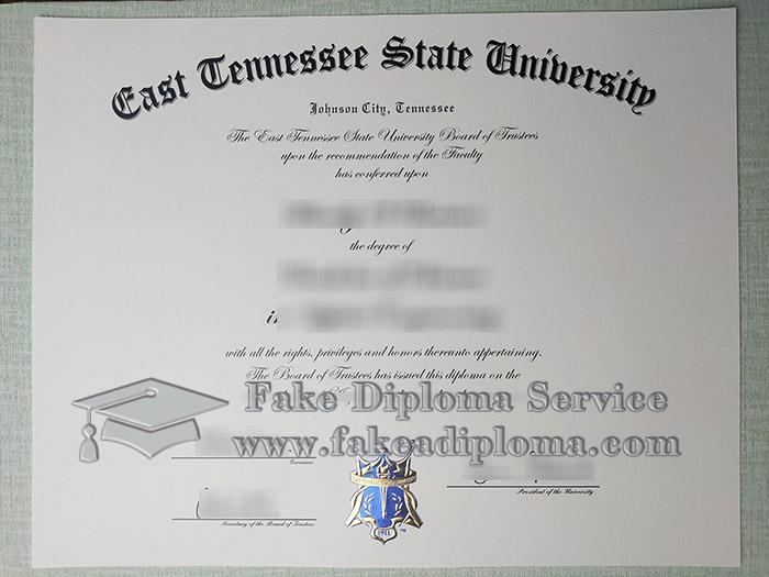 East Tennessee State University diploma, East Tennessee State University degree, fake TSU diploma, 田纳西州立大学毕业证,