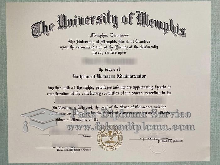 University of Memphis diploma, University of Memphis degree, University of Memphis certificate, 孟菲斯大学毕业证,