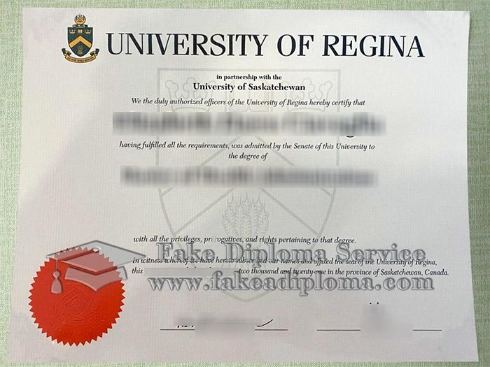 University of Regina diploma, University of Regina degree, University of Regina certificate,