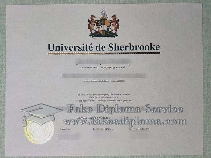 Université de Sherbrooke diploma, Université de Sherbrooke degree, University of Sherbrooke diploma, 舍布鲁克大学毕业证,