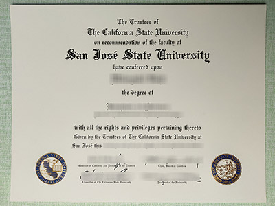 Easy Ways to Create A High Quality San Jose State University Diploma